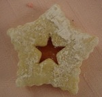picture of christmas star cookie (linzer)